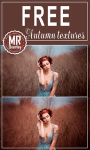 FREE autumn textures Photo Overlays, Photoshop overlay