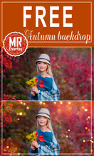 Load image into Gallery viewer, FREE autump backdrop bokeh Photo Overlays, Photoshop overlay
