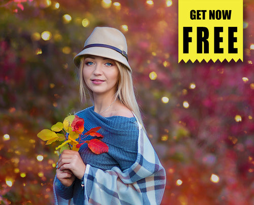 FREE autump backdrop bokeh Photo Overlays, Photoshop overlay