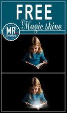 Load image into Gallery viewer, FREE magic shine book Photo Overlays, Photoshop overlay