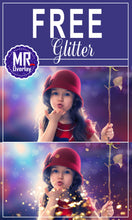 Load image into Gallery viewer, FREE blowing glitter Photo Overlays, Photoshop overlay
