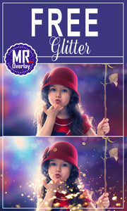 FREE blowing glitter Photo Overlays, Photoshop overlay