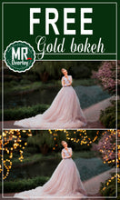 Load image into Gallery viewer, FREE gold bokeh light Photo Overlays, Photoshop overlay