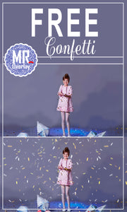 FREE confetti photo overlays, Photoshop overlay