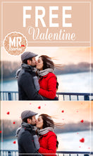 Load image into Gallery viewer, FREE valentine's day heart Photo overlays,  Photoshop overlay