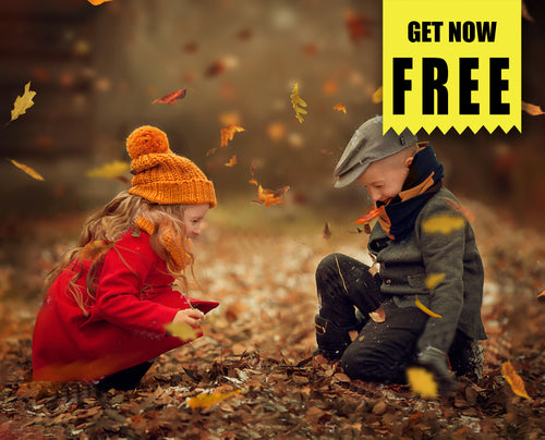FREE autumn falling leaves Photo Overlays, Photoshop overlay