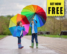 Load image into Gallery viewer, FREE summer rain Photo Overlays, Photoshop overlay
