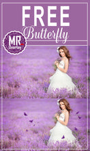Load image into Gallery viewer, FREE butterfly Photo Overlays, Photoshop overlay