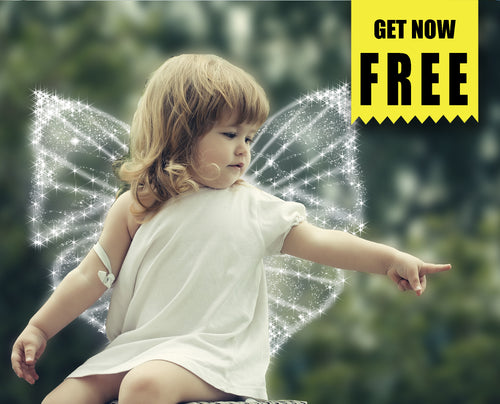 FREE angel butterfly magic wings Photo Overlays, Photoshop overlay