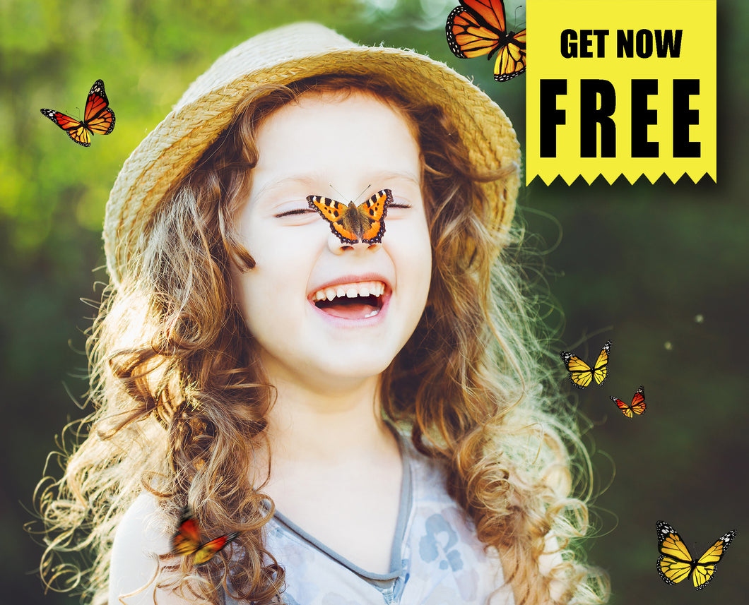 FREE butterfly Photo Overlays, Photoshop overlay
