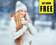 Load image into Gallery viewer, FREE snow Photo Overlays, Photoshop overlay