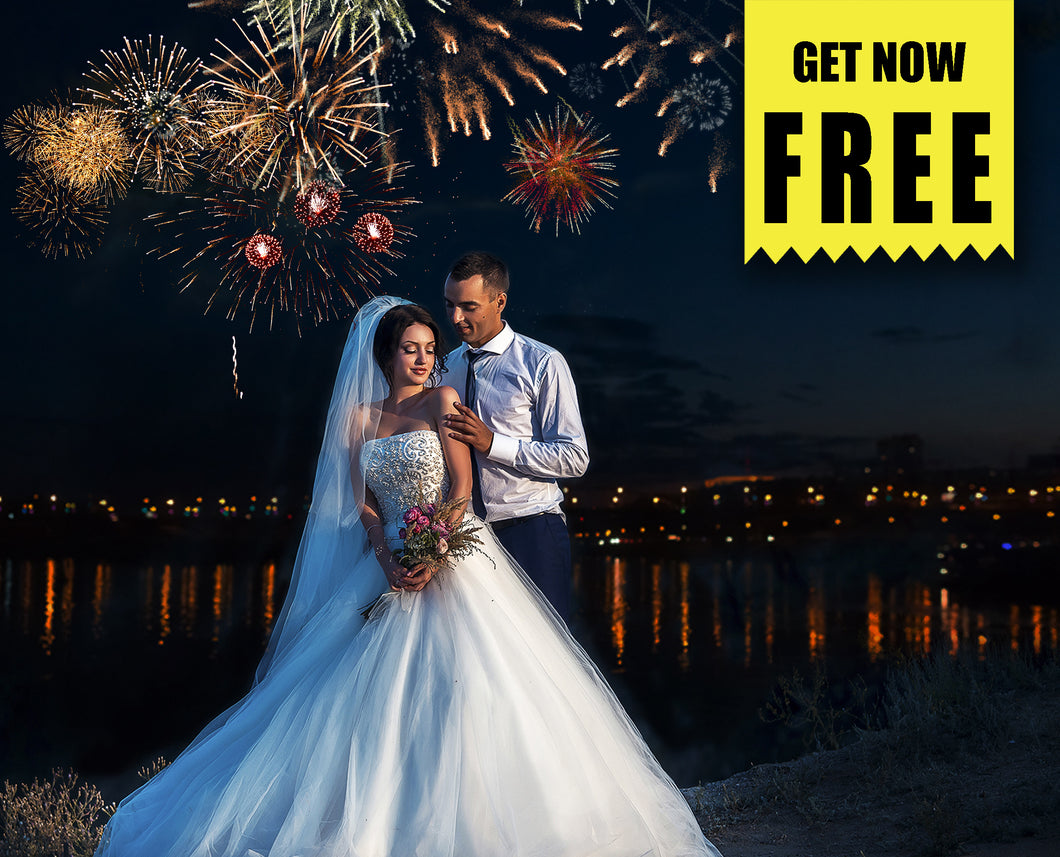 Free fireworks Photo Overlays, Photoshop overlay