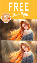 Load image into Gallery viewer, FREE sun light  rays Photo Overlays, Photoshop overlay