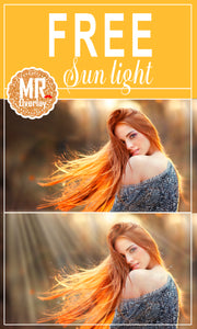 FREE sun light  rays Photo Overlays, Photoshop overlay