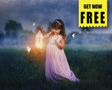 Load image into Gallery viewer, FREE fairy pixie magic Photo Overlays, Photoshop overlay