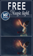 Load image into Gallery viewer, FREE magic light Photo Overlays, Photoshop overlay