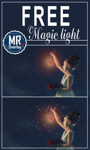 FREE magic light Photo Overlays, Photoshop overlay