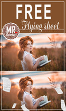 Load image into Gallery viewer, FREE Flying sheet Photo Overlays, Photoshop overlay
