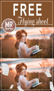 FREE Flying sheet Photo Overlays, Photoshop overlay