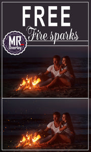 Free fire sparks Photo Overlays, Photoshop overlay