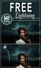 Load image into Gallery viewer, FREE lightning storm sky, Photo Overlays, Photoshop overlay