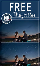 Load image into Gallery viewer, FREE falling star Photo Overlays, Photoshop overlay