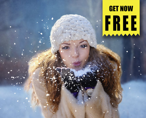 FREE Blowing snow Photo Overlays, Photoshop overlay