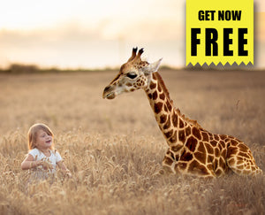 FREE animal giraffe photo Overlays, Photoshop overlay