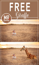 Load image into Gallery viewer, FREE animal giraffe photo Overlays, Photoshop overlay