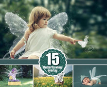 Load image into Gallery viewer, 15 Angel butterfly magic wings Photo Overlays, Photography Overlay, Photography Photo Prop, Digital Download, png file