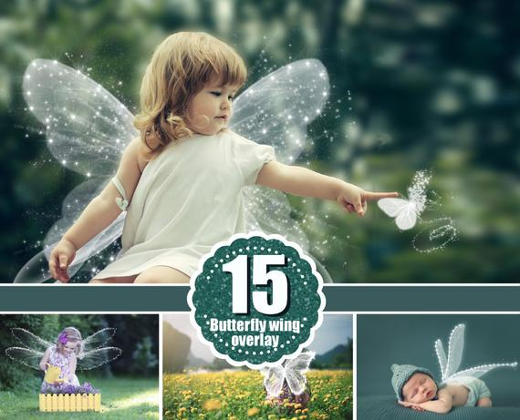15 Angel butterfly magic wings Photo Overlays, Photography Overlay, Photography Photo Prop, Digital Download, png file