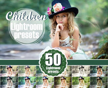 Load image into Gallery viewer, 50 children kids todler newborn baby Lightroom Presets, romantic, mini session, holiday, Professional Lr presets, presets for photographers