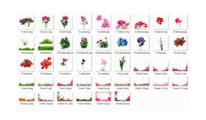 35 Flower rose Photo Overlays Photography Overlays for Photoshop, INSTANT DOWNLOAD, Photography Textures, png file