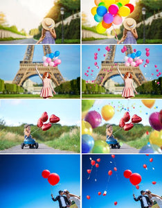 70 balloons balloon Photo Overlays, Photography Overlays, Photography Prop, Digital Download, clip art, clipart, png file