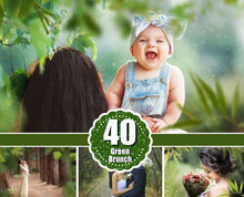 Load image into Gallery viewer, 40 Branches Photo Overlays, shooting through branches, tree, green, leaves, spring, summer Photoshop Overlay, Photoshop Overlays, png file
