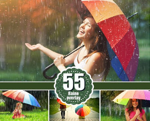 55 Rain drops rainbow weather fog Photo Overlays, Photography Overlay, Photography Photo Prop, Photoshop overlay, Rain effect png file