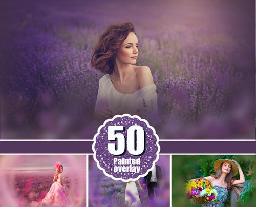 50 Flower painted photoshop overlays, floral dreams summer spring wedding branches branch fairy photo sessions, magic effects png