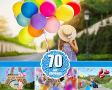 Load image into Gallery viewer, 70 balloons balloon Photo Overlays, Photography Overlays, Photography Prop, Digital Download, clip art, clipart, png file