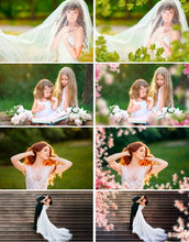 Load image into Gallery viewer, 35 flower branch tree leaf grass Photo Overlays, Photoshop overlay, spring summer overlays, wedding, baby, bride, children png file