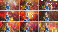 Load image into Gallery viewer, 35 autumn backdrop background texture bokeh, autumn overlay, lights, Photoshop, christmas, holliday, wedding, photo session, jpg