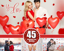 Load image into Gallery viewer, 45 Valentine Valentine's day Photo overlays, heart, love, romantic, wedding, wordart photoshop overlay, background, Heart Textures, png file