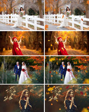 Load image into Gallery viewer, 60 falling leaves Photo Overlays, Photography Overlays, Autumn Overlays, Falling Leaves Photo Effect, realistic effect, png file