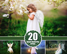 Load image into Gallery viewer, Angel butterfly Wings Photo Overlays, Photoshop Overlay, Photography Photo Prop, magic fairy fantasy wight wing, png file