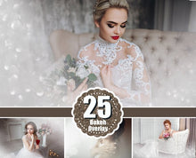 Load image into Gallery viewer, 25 Wedding glamour fashion art boudoir bokeh, Photoshop Overlays, Digital Background Backdrop, mist, fume, color atmosphere, png file