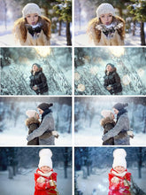 Load image into Gallery viewer, 110 Winter set Photoshop Overlays, Wonderland effect, Realistic Snow, Christmas сollection, Snow, Light, Bokeh, fog, fram, deer