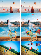 Load image into Gallery viewer, 35 hot air balloon Photo Overlays, aerostat, Photography Overlays, Photoshop overlay, balloon clip art, clipart, Digital backdrop, png file
