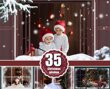 Load image into Gallery viewer, 35 Window Frame, rustic frames, Christmas, Photoshop overlays, winter, snow, Digital Background, Digital Backdrop, png file