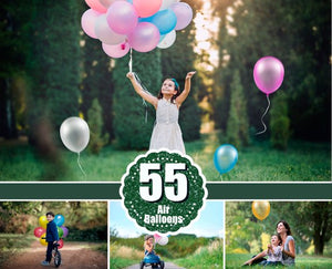 55 air balloons ballon Photo Overlays, Photography Overlays, Photography Prop, Digital Download, clip art, clipart, png file