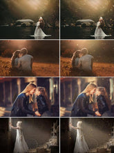 Load image into Gallery viewer, 65 Summer floating dust effect, Photoshop overlays, dust & haze overlays, fairy dust, sun, ray, sunlight, light bokeh photo, jpg file