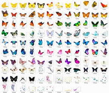 Load image into Gallery viewer, 110 butterfly Photo Overlays, Flying butterfly, Overlays for Photoshop, INSTANT DOWNLOAD, Professional sessions, png file